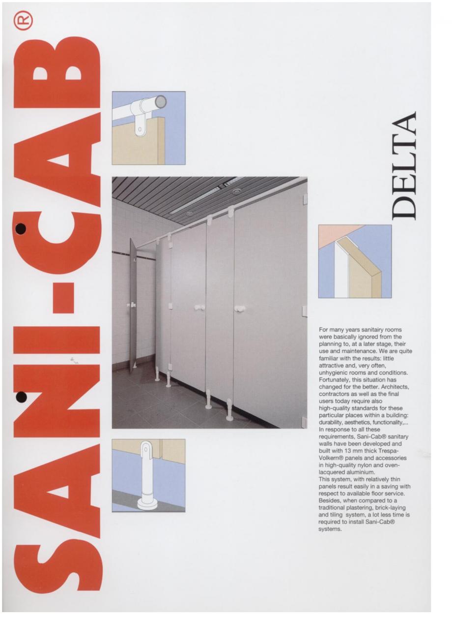 Pagina 1 - Cabine sanitare SANI-CAB DELTA Catalog, brosura Engleza