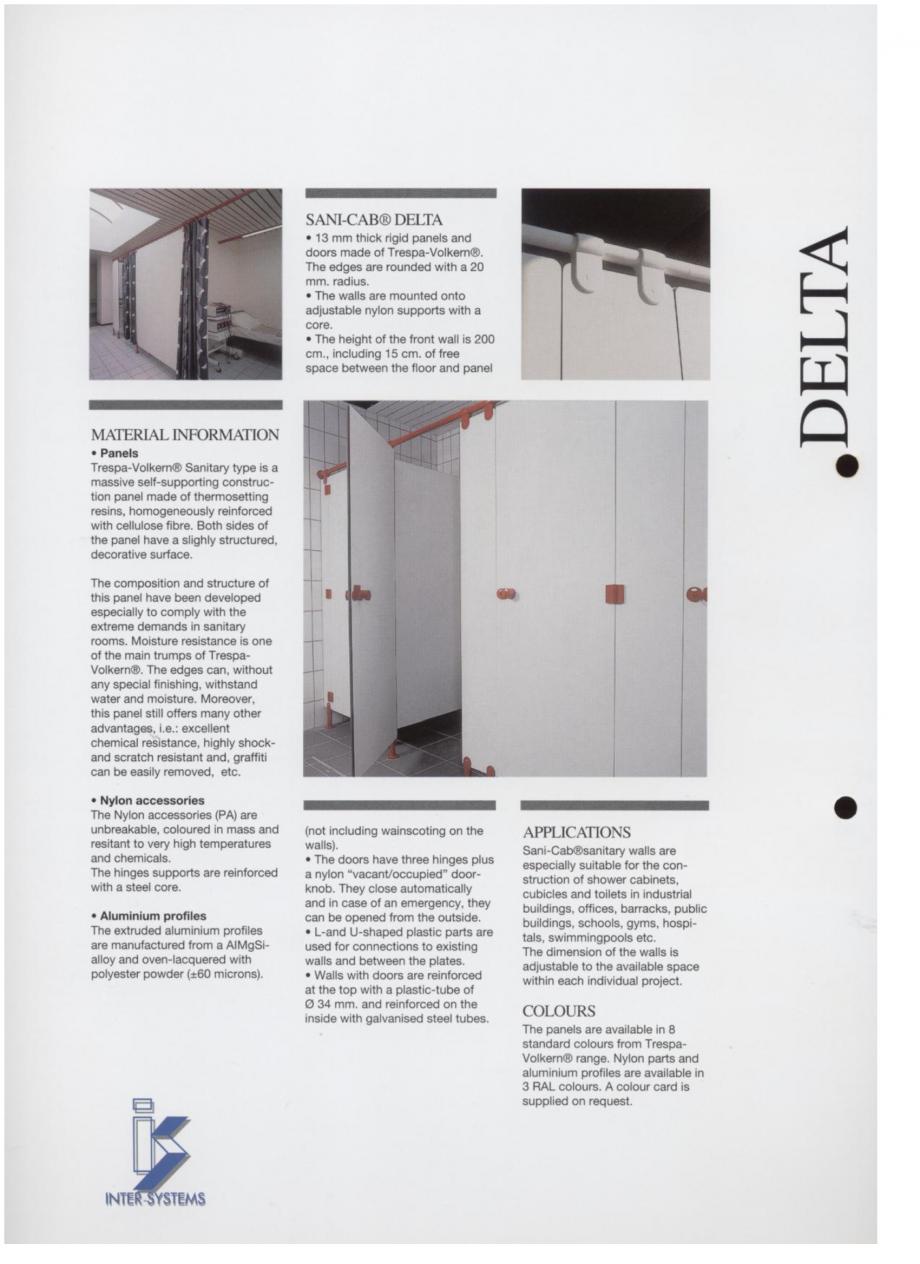 Pagina 2 - Cabine sanitare SANI-CAB DELTA Catalog, brosura Engleza