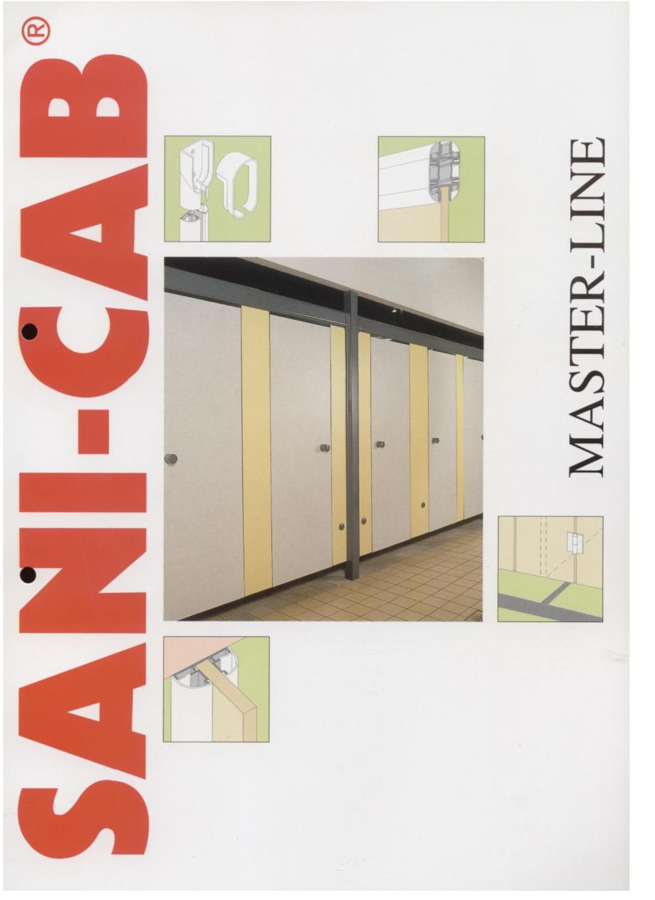 Pagina 1 - Cabine sanitare SANI-CAB MASTER-LINE Catalog, brosura Engleza
