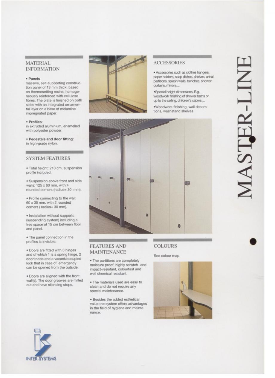 Pagina 2 - Cabine sanitare SANI-CAB MASTER-LINE Catalog, brosura Engleza