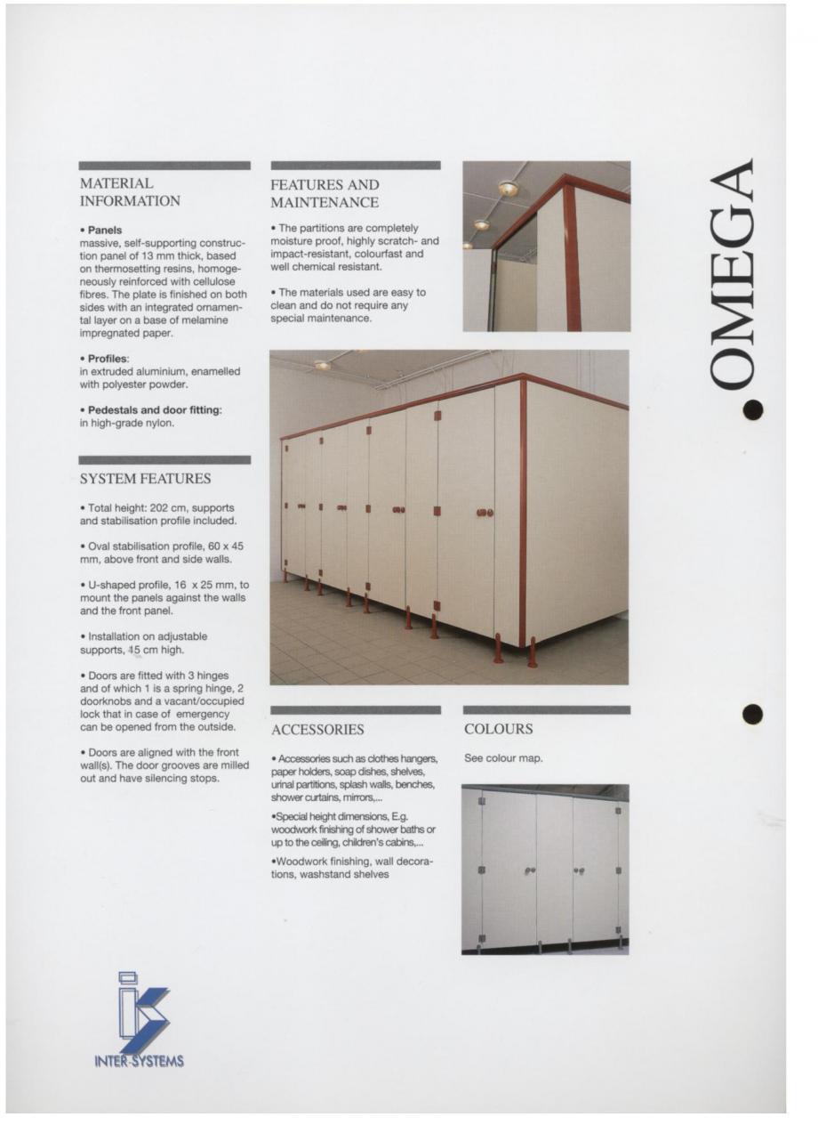 Pagina 2 - Cabine sanitare SANI-CAB OMEGA Catalog, brosura Engleza
