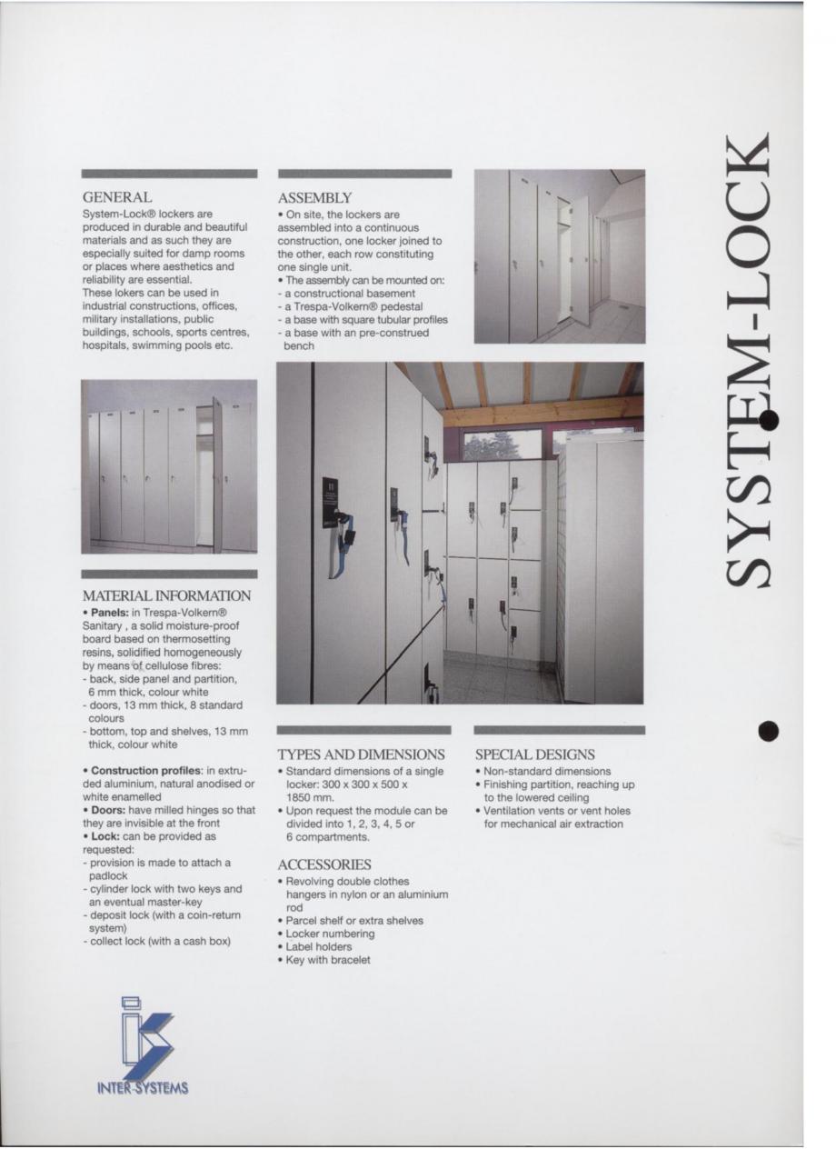 Catalog, brosura Peretii sanitari SYSTEM LOCK SANI-CAB Cabine sanitare si vestiare din panouri HPL GIBB TECHNOLOGIES  - Pagina 2