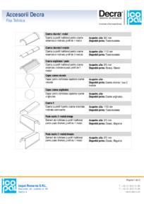 Accesorii pentru tigla metalica DECRA
