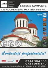 Sisteme complete de acoperisuri pentru biserici DECRA