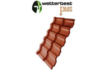 Tigla metalica premium Tigla metalica Wetterbest este un produs original, inovativ, de calitate superioara, mult mai longeviv decat alte tipuri de tigla, fiind totodata compatibil cu orice tip de constructie.