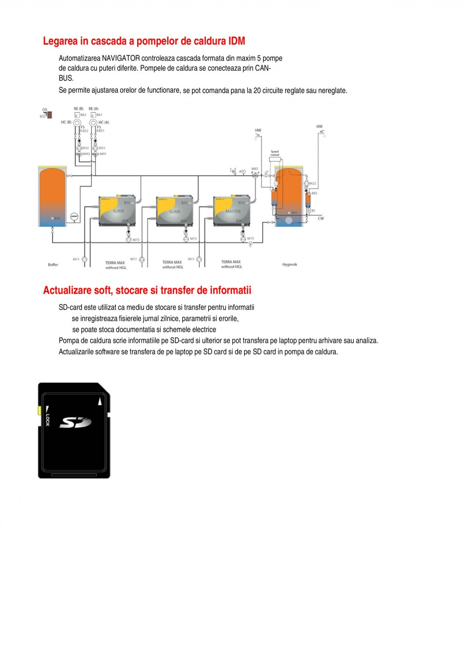 Catalog, brosura Functiile pompelor de caldura TERRA SW 8-17 HGL, TERRA SW 20-42 Twin HGL, TERRA SW 6-17 BASIC, TERRA SW 15-42 Twin BASIC, TERRA SW 18 H/28 H IDM Pompe de caldura sol-apa ALEXA TOTAL INSTAL roller de temperatura diferentiala, se poate realiza comunicarea cu sistemul solar, prin adaugarea... - Pagina 3