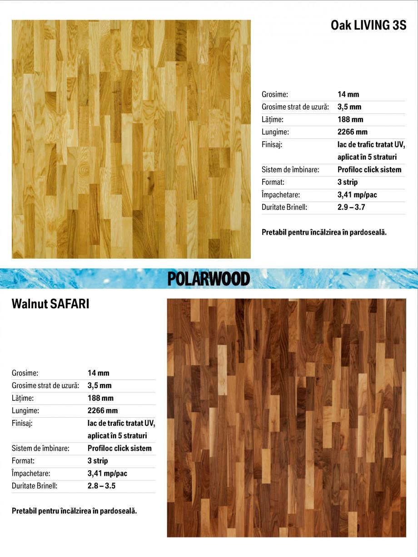 Pagina 5 - Parchet triplu stratificat stejar Polarwood - Catalog POLARWOOD Tundra White Matt,...