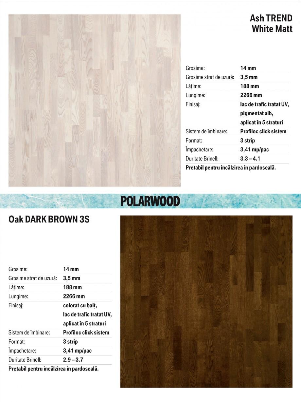 Pagina 9 - Parchet triplu stratificat stejar Polarwood - Catalog POLARWOOD Tundra White Matt,...