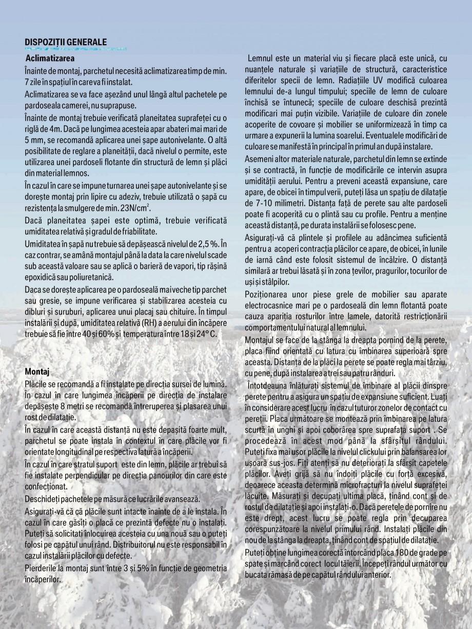Pagina 10 - Parchet triplu stratificat stejar Polarwood - Catalog POLARWOOD Tundra White Matt,...