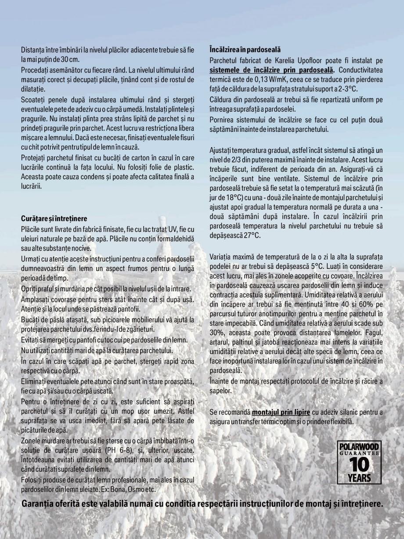 Pagina 11 - Parchet triplu stratificat stejar Polarwood - Catalog POLARWOOD Tundra White Matt,...
