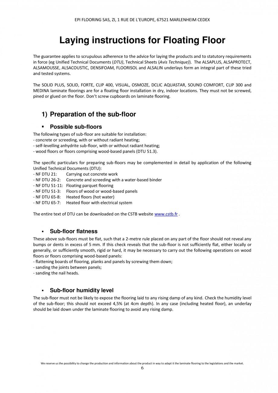 Pagina 5 - Parchet laminat - Utilizare, montaj si informatii - Alsafloor ALSAFLOOR Sardinia Oak 619,...