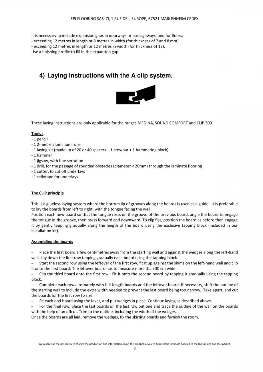 Pagina 7 - Parchet laminat - Utilizare, montaj si informatii - Alsafloor ALSAFLOOR Sardinia Oak 619,...