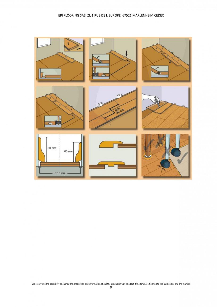 Pagina 8 - Parchet laminat - Utilizare, montaj si informatii - Alsafloor ALSAFLOOR Sardinia Oak 619,...