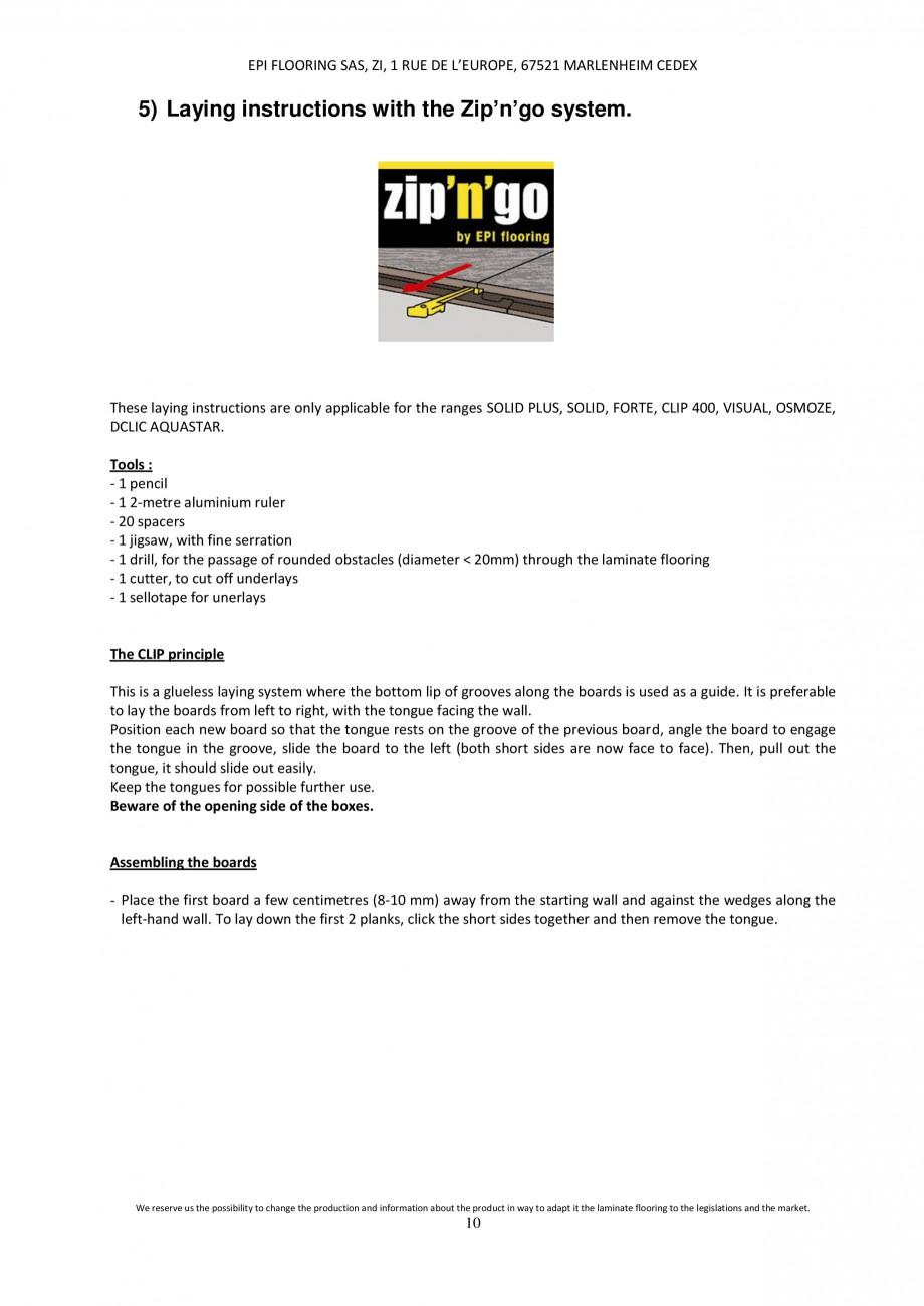 Pagina 9 - Parchet laminat - Utilizare, montaj si informatii - Alsafloor ALSAFLOOR Sardinia Oak 619,...