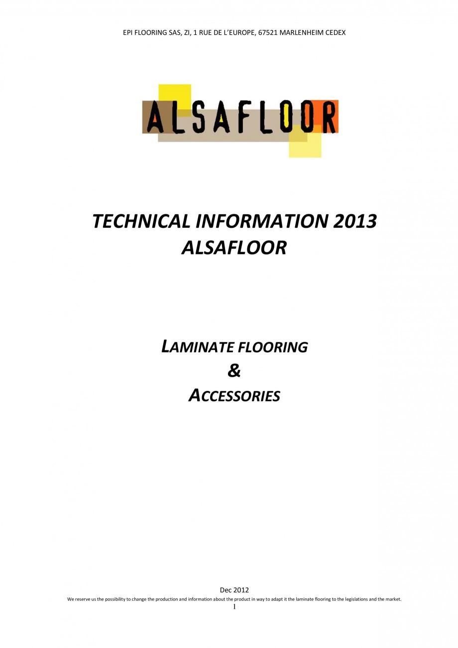 Pagina 1 - Parchet laminat - Utilizare, montaj si informatii - Alsafloor ALSAFLOOR Sardinia Oak 619,...