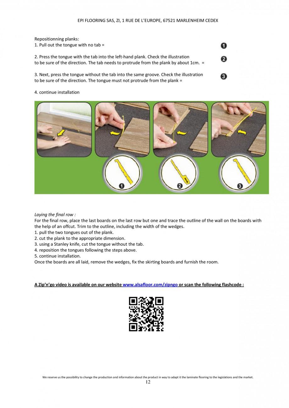Pagina 11 - Parchet laminat - Utilizare, montaj si informatii - Alsafloor ALSAFLOOR Sardinia Oak 619...