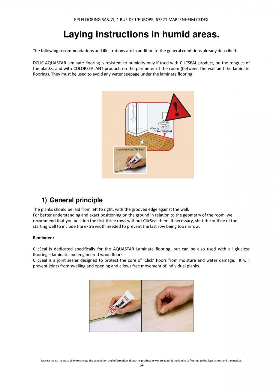 Pagina 13 - Parchet laminat - Utilizare, montaj si informatii - Alsafloor ALSAFLOOR Sardinia Oak 619...