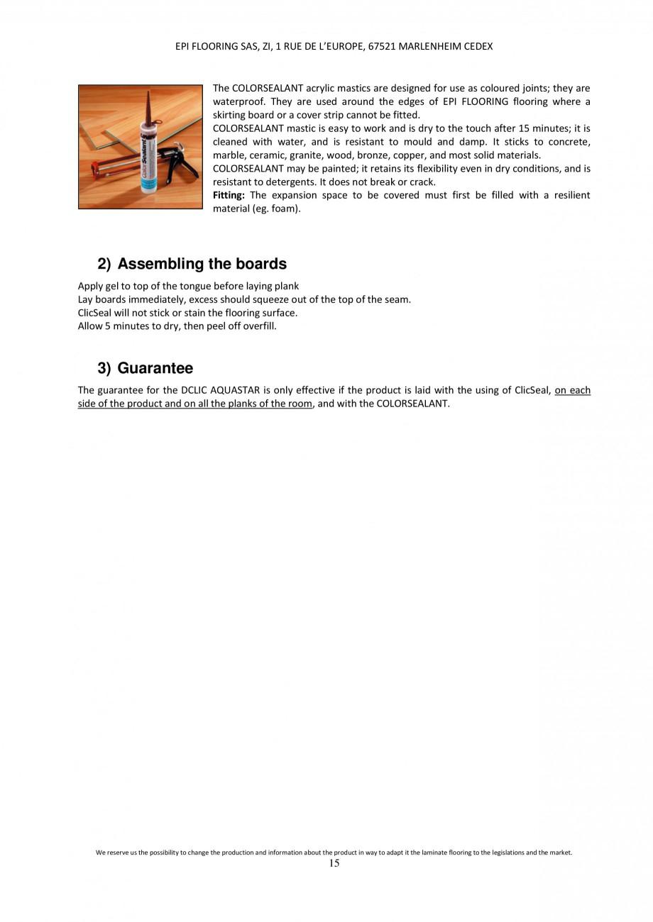 Pagina 14 - Parchet laminat - Utilizare, montaj si informatii - Alsafloor ALSAFLOOR Sardinia Oak 619...