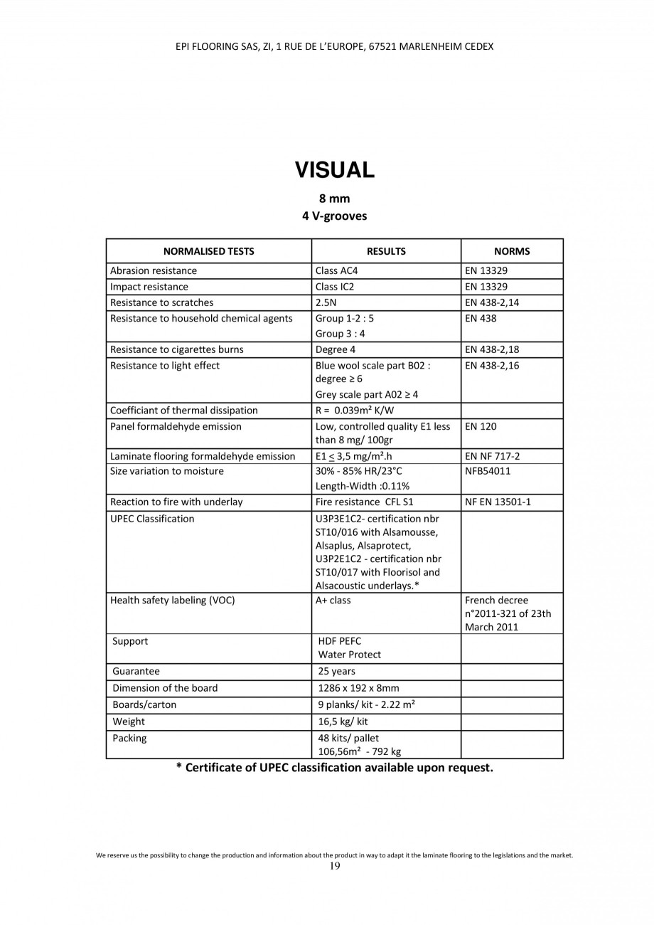 Pagina 18 - Parchet laminat - Utilizare, montaj si informatii - Alsafloor ALSAFLOOR Sardinia Oak 619...