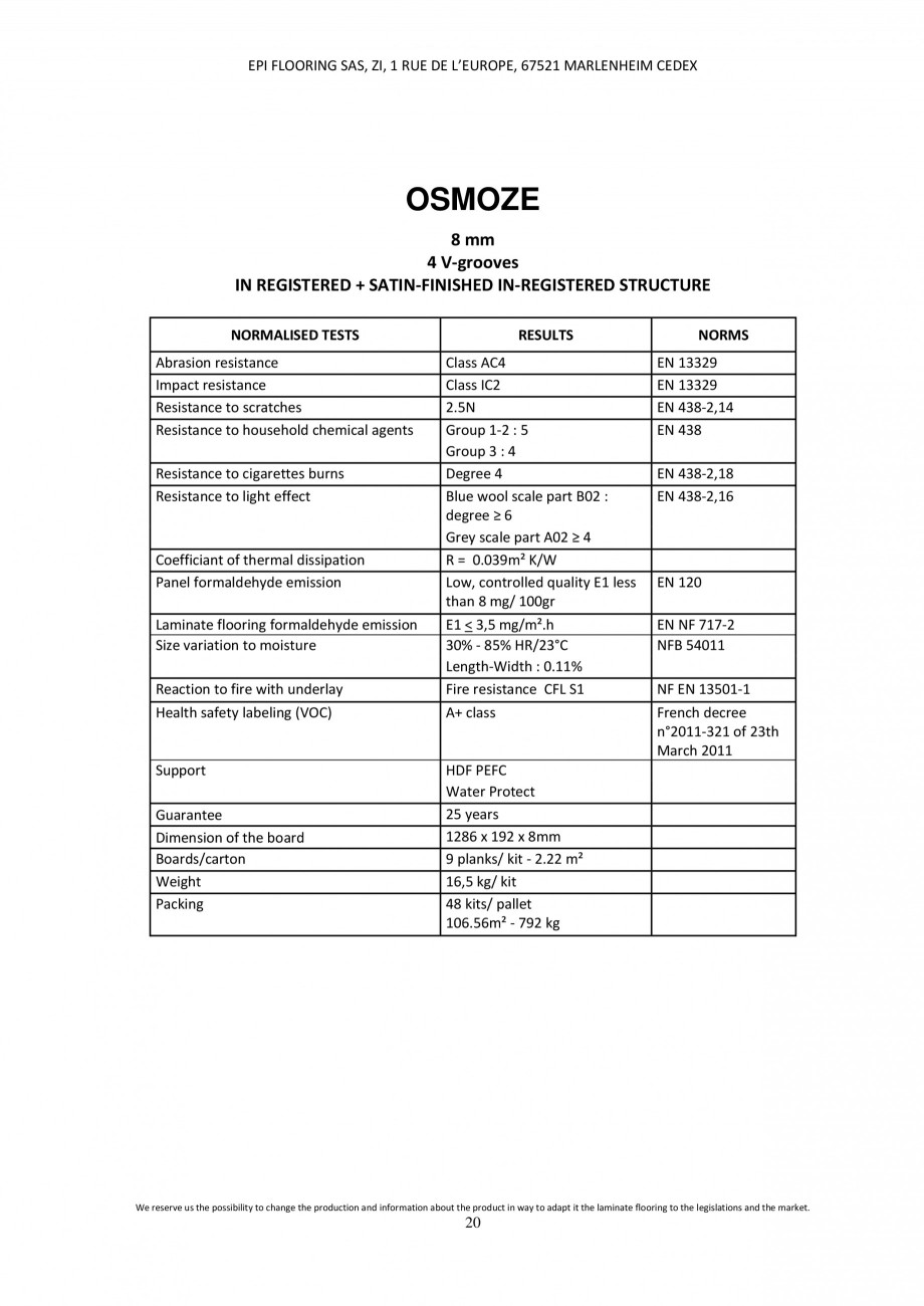 Pagina 19 - Parchet laminat - Utilizare, montaj si informatii - Alsafloor ALSAFLOOR Sardinia Oak 619...