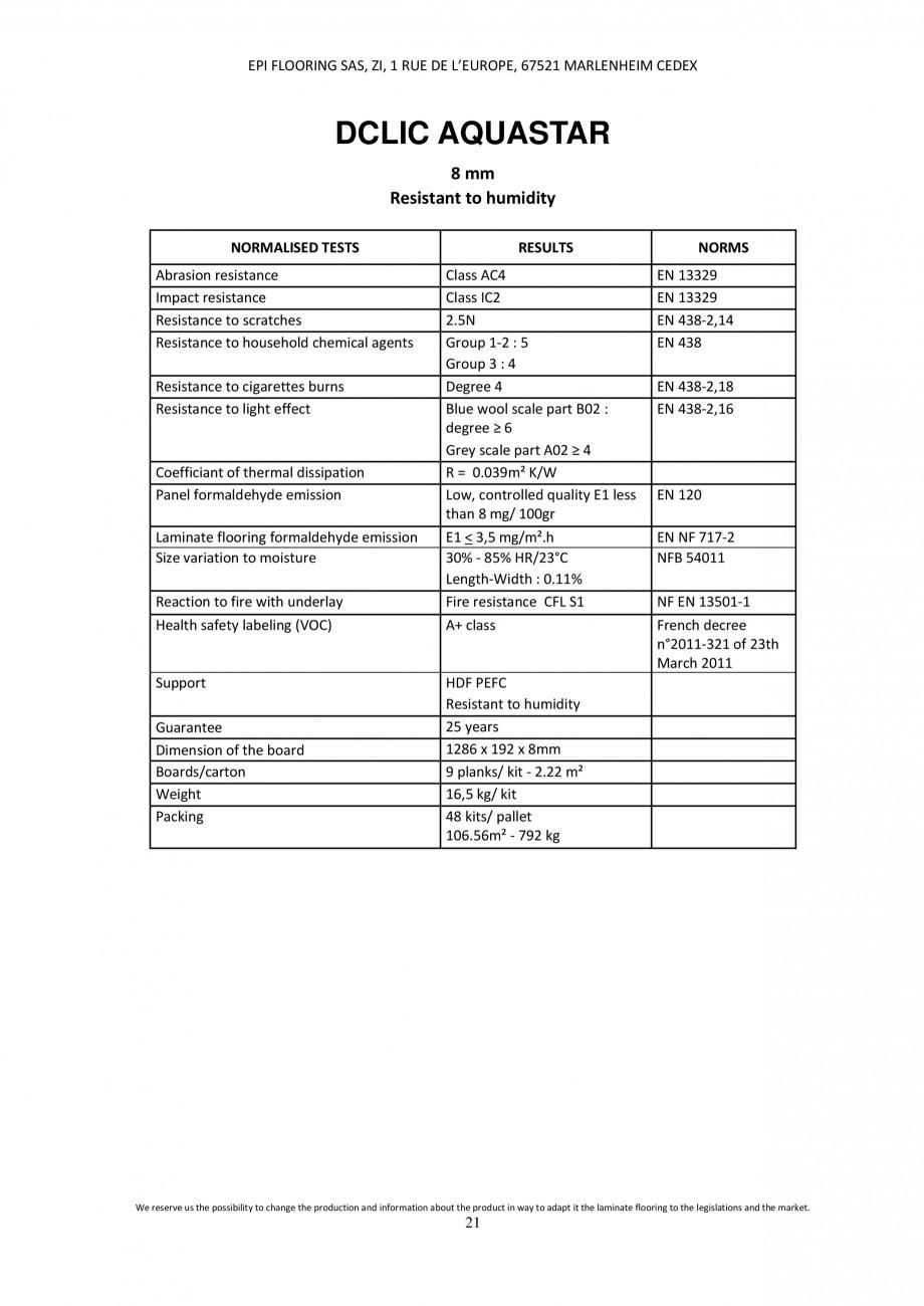 Pagina 20 - Parchet laminat - Utilizare, montaj si informatii - Alsafloor ALSAFLOOR Sardinia Oak 619...