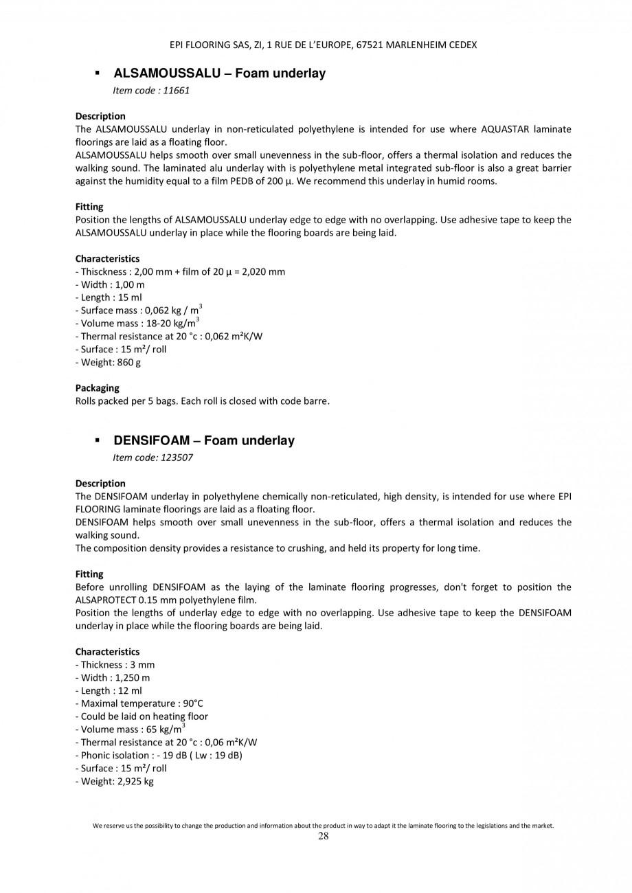 Pagina 27 - Parchet laminat - Utilizare, montaj si informatii - Alsafloor ALSAFLOOR Sardinia Oak 619...