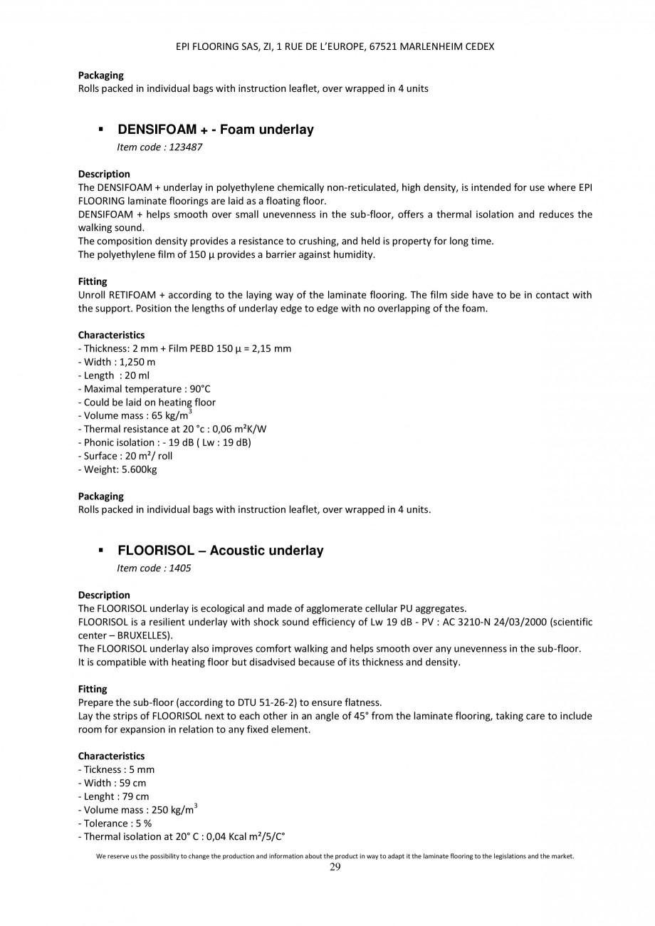 Pagina 28 - Parchet laminat - Utilizare, montaj si informatii - Alsafloor ALSAFLOOR Sardinia Oak 619...