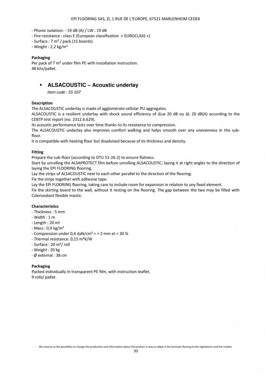 Pagina 29 - Parchet laminat - Utilizare, montaj si informatii - Alsafloor ALSAFLOOR Sardinia Oak 619...