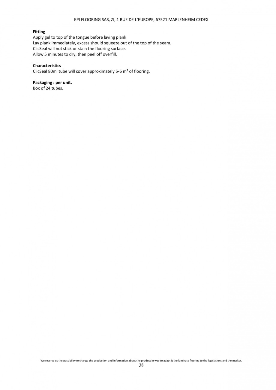 Pagina 38 - Parchet laminat - Utilizare, montaj si informatii - Alsafloor ALSAFLOOR Sardinia Oak 619...