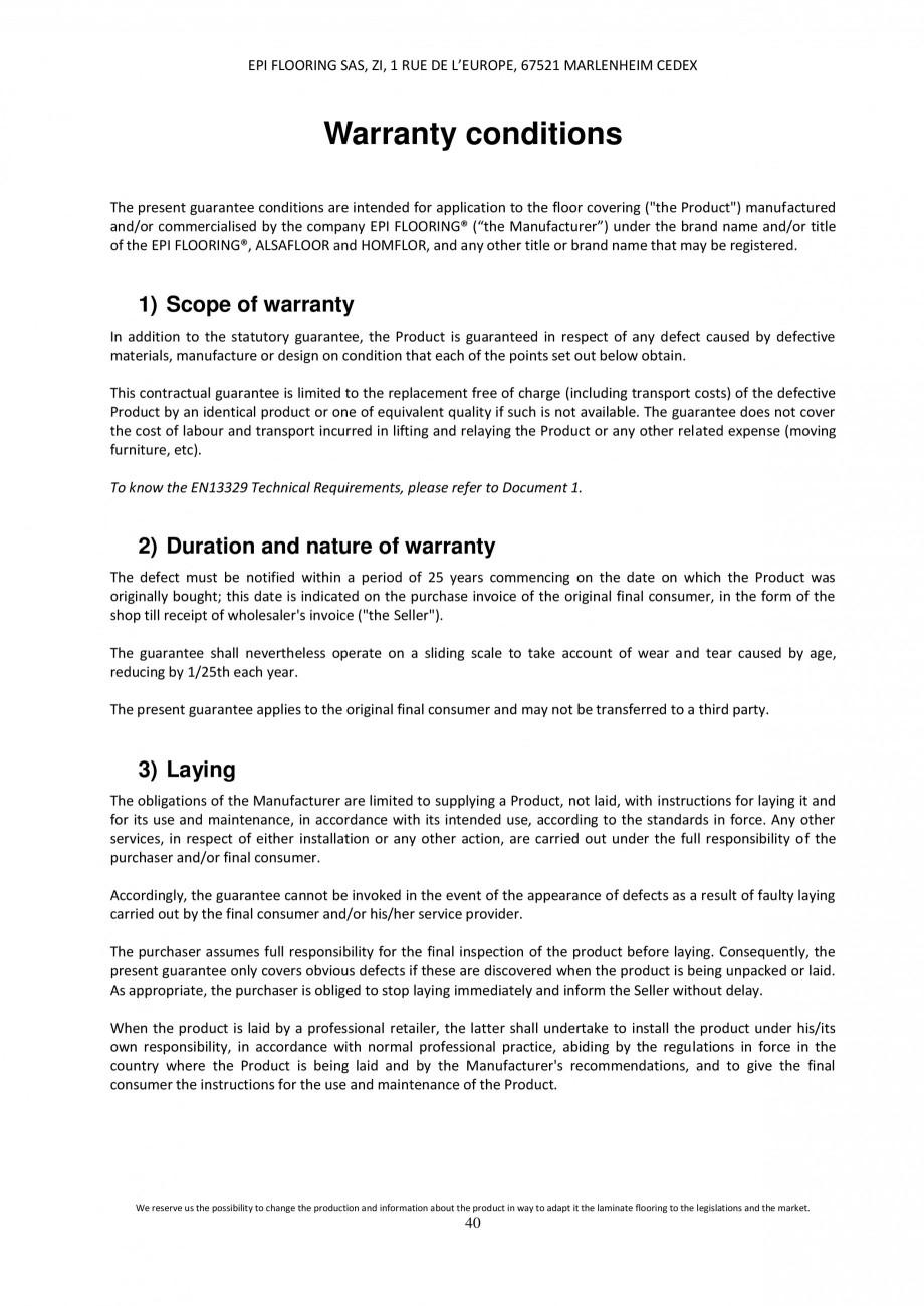 Pagina 40 - Parchet laminat - Utilizare, montaj si informatii - Alsafloor ALSAFLOOR Sardinia Oak 619...