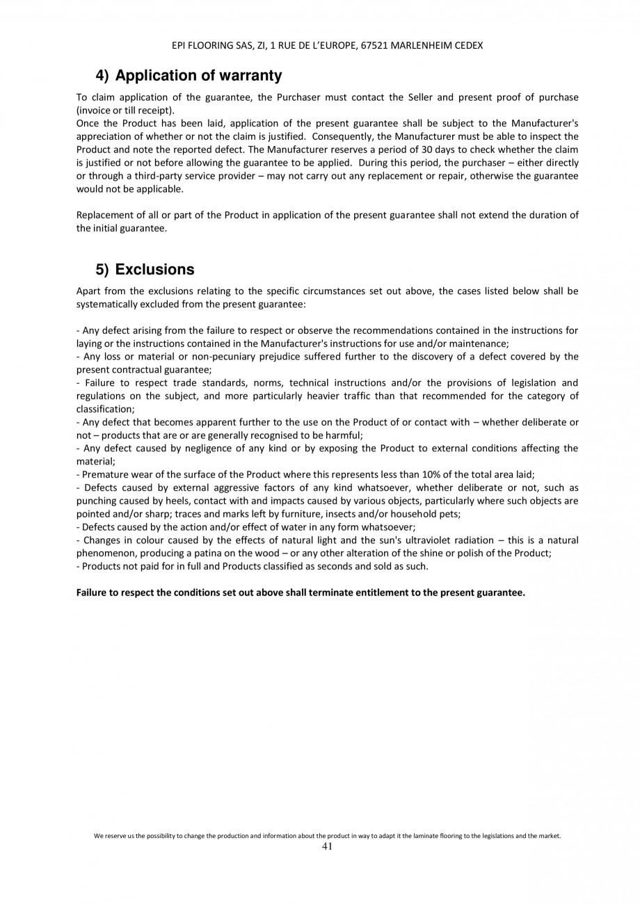 Pagina 41 - Parchet laminat - Utilizare, montaj si informatii - Alsafloor ALSAFLOOR Sardinia Oak 619...