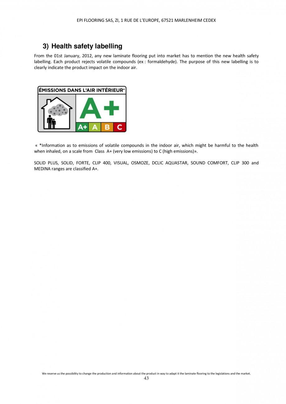 Pagina 43 - Parchet laminat - Utilizare, montaj si informatii - Alsafloor ALSAFLOOR Sardinia Oak 619...