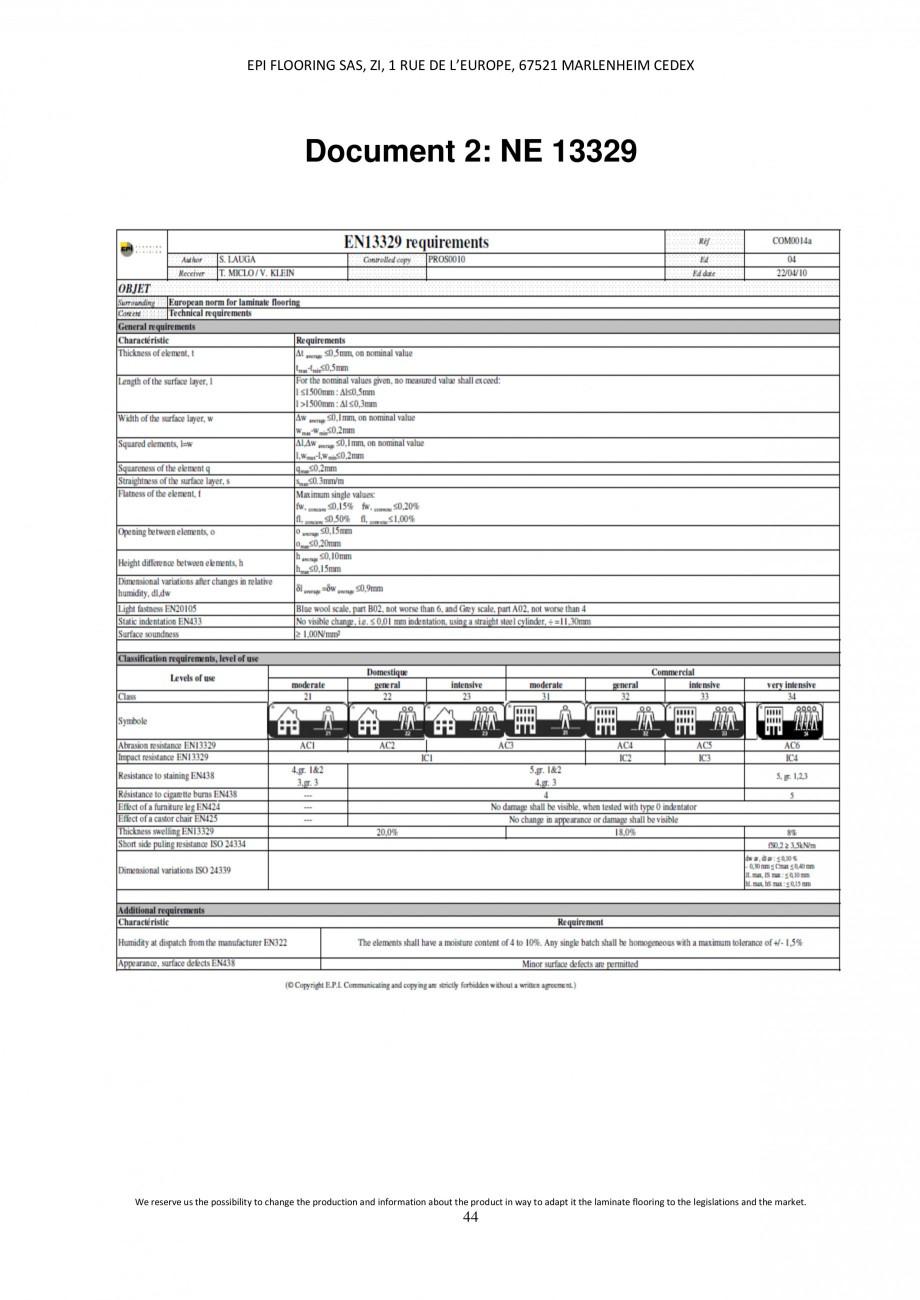 Pagina 44 - Parchet laminat - Utilizare, montaj si informatii - Alsafloor ALSAFLOOR Sardinia Oak 619...