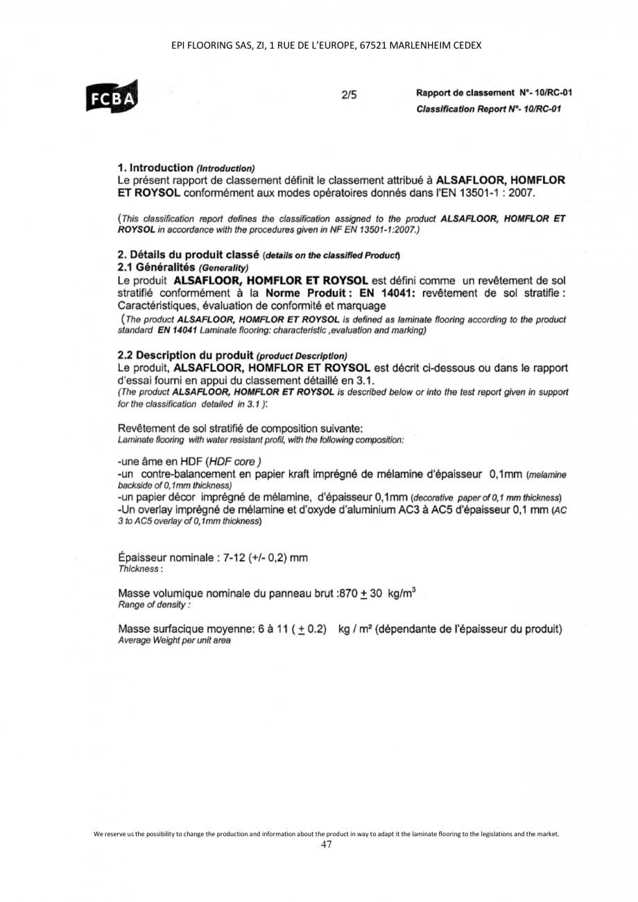 Pagina 47 - Parchet laminat - Utilizare, montaj si informatii - Alsafloor ALSAFLOOR Sardinia Oak 619...