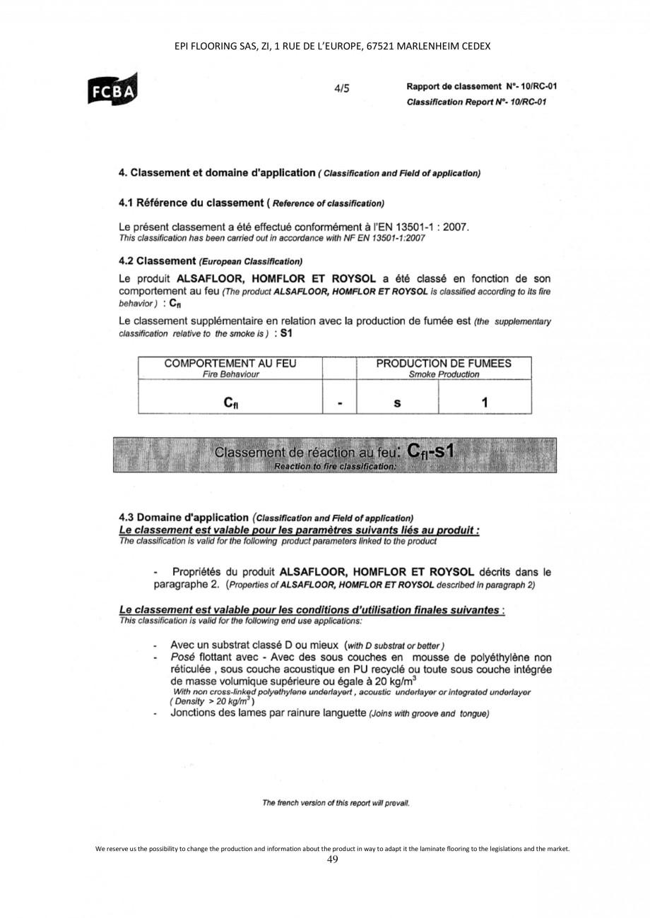 Pagina 49 - Parchet laminat - Utilizare, montaj si informatii - Alsafloor ALSAFLOOR Sardinia Oak 619...