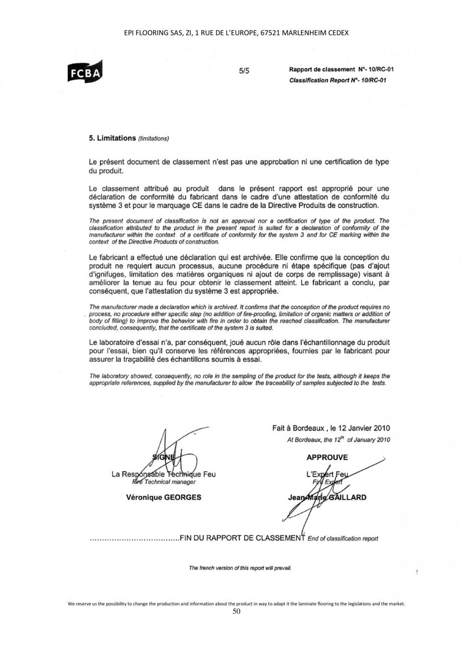 Pagina 50 - Parchet laminat - Utilizare, montaj si informatii - Alsafloor ALSAFLOOR Sardinia Oak 619...