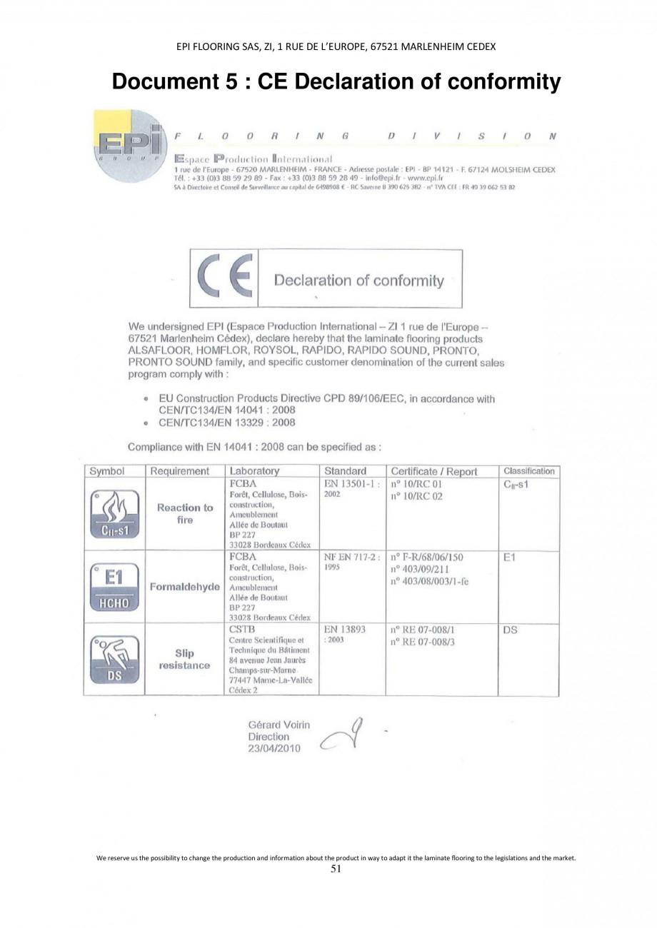 Pagina 51 - Parchet laminat - Utilizare, montaj si informatii - Alsafloor ALSAFLOOR Sardinia Oak 619...