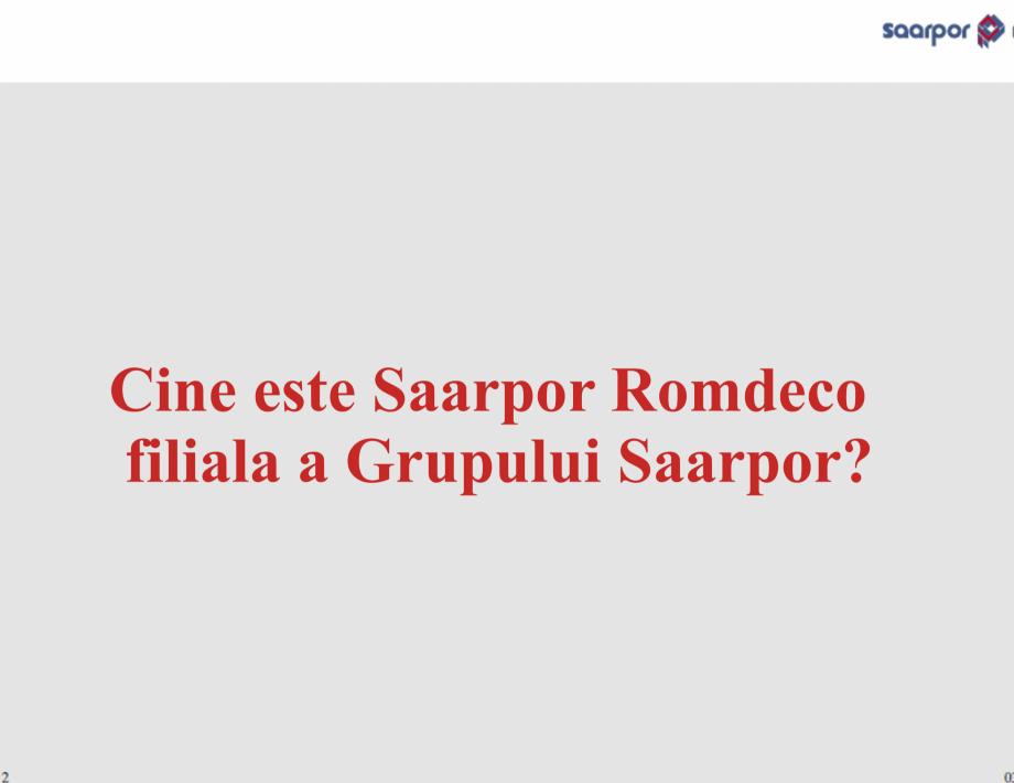 Pagina 2 - Cine este Saarpor Romdeco?  Catalog, brosura Romana