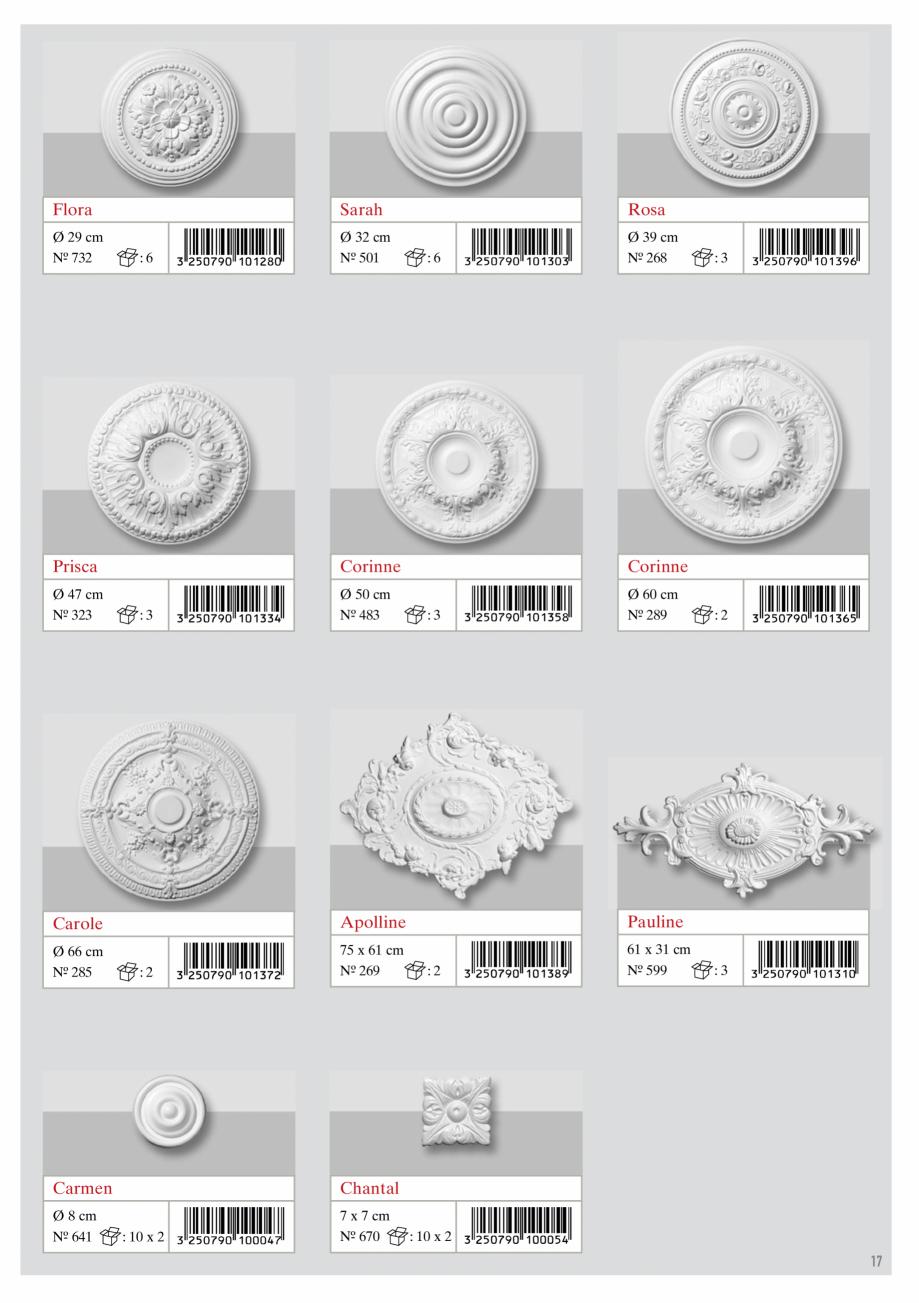 Pagina 5 - Rozete decorative DECOSA Fisa tehnica Engleza