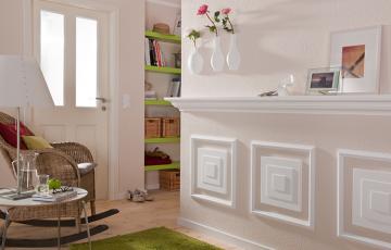 Profile decorative pentru pereti DECOSA va ofera o gama variata de produse decorative: placi de plafon, baghete, rozete si grinzi.
