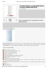 Centrala termica in condensatie 22 kW - ZWB 28-3C BOSCH