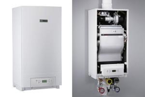 Centrale termice murale in condensatie INSATERM TOTAL ofera patru seri de centrale termice in condensatie Bosch cu puteri nominale cuprinse intre 22 si 98 kW sau pana la 392 kW montate in cascada.