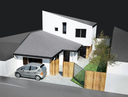 Extindere locuinta existenta Parter in Parter + Mansarda - Bucuresti, str. Ramasagului / Locuinta unifamiliara P+M Bucuresti - str. Ramasagului 05.2