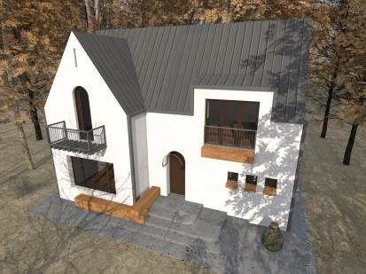 Casa de vacanta P+M - Nistoresti - Breaza - fatada alba si acoperis P+M - Nistoresti