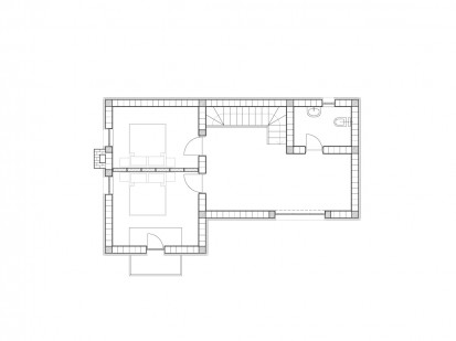 Casa de vacanta P+M - Nistoresti - Breaza - plan constructie - dormitoare baie P+M -