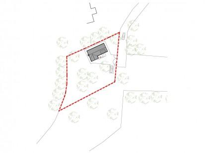 Casa de vacanta P+M - Nistoresti - Breaza - localizarea casei fata de drumul de acces