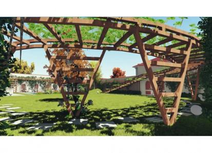Amenajare pergole din lemn in gradina existenta / Amenajare pergole din lemn in gradina existenta