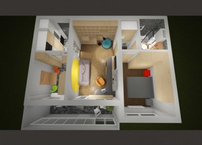 Modificari apartament 2 camere - str Emil Racovita Modificari apartament Modificari apartament 2 camere - str