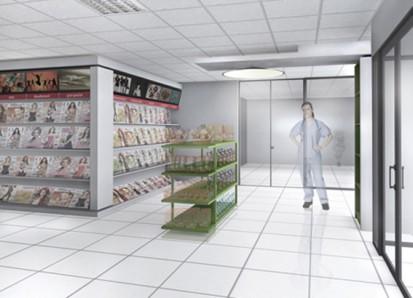 Amenajare magazin de presa si articole culturale intr-un spital - Bucuresti 1 Magazin in spital Amenajare