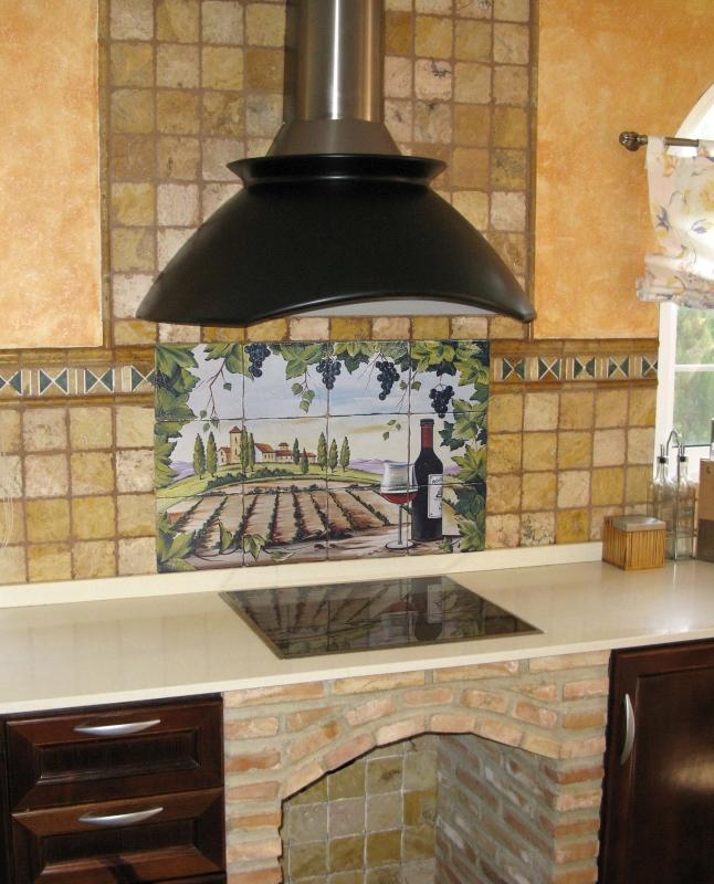 prezentare produs decor plita rustic cu vita de vie si sticla de vin artelux poza 2. Black Bedroom Furniture Sets. Home Design Ideas